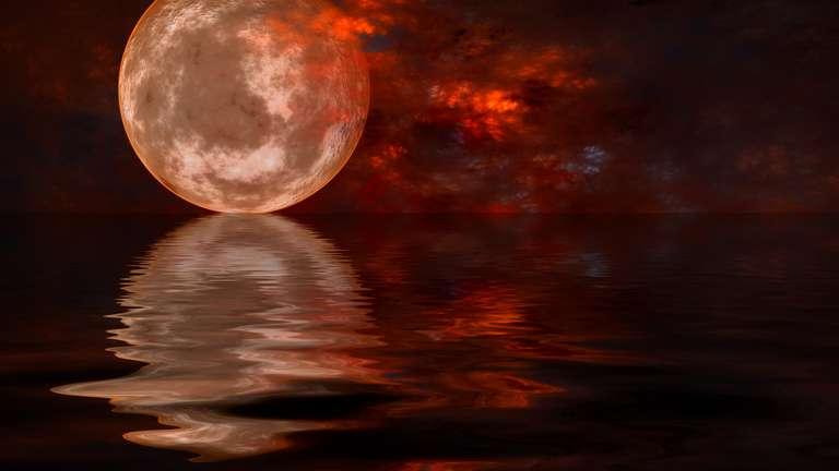 Vollmond und Mondfinsternis am 21.1.2019 von 04:33 Uhr bis 07:50 Uhr | Foto: © Netfalls - stock.adobe.com