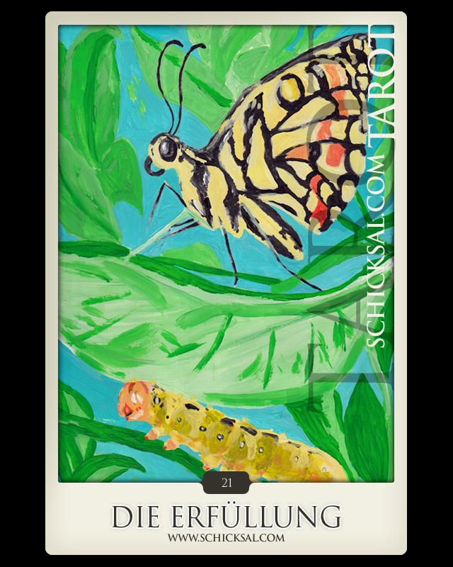"""Tarotkarte """"Die Erfüllung"""" im Schicksals-Tarot © Verlag Franz"""