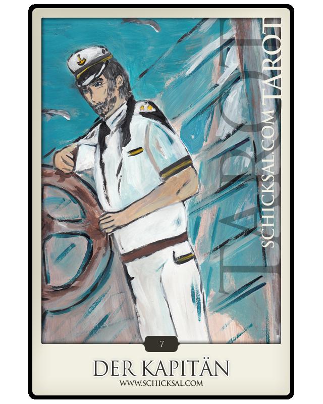 """Die Tarotkarte """"Der Kapitän"""" im Schicksals-Tarot © Verlag Franz"""