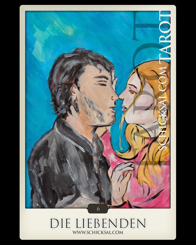 """Tarotkarte """"Die Liebenden"""" im Schicksals-Tarot © Verlag Franz"""