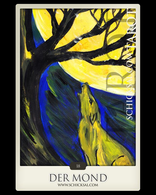 """Tarotkarte """"Der Mond"""" im Schicksals-Tarot © Verlag Franz"""