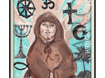 """Die Tarotkarte """"Der Priester"""" im Schicksals-Tarot © Verlag Franz"""