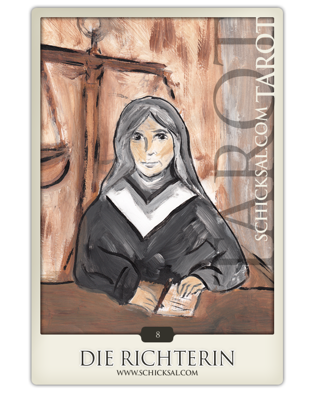 """Tarotkarte """"Die Richterin"""" im Schicksals-Tarot © Verlag Franz"""