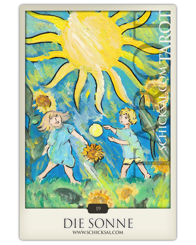 """Tarotkarte """"Die Sonne"""" im Schicksals-Tarot © Verlag Franz"""