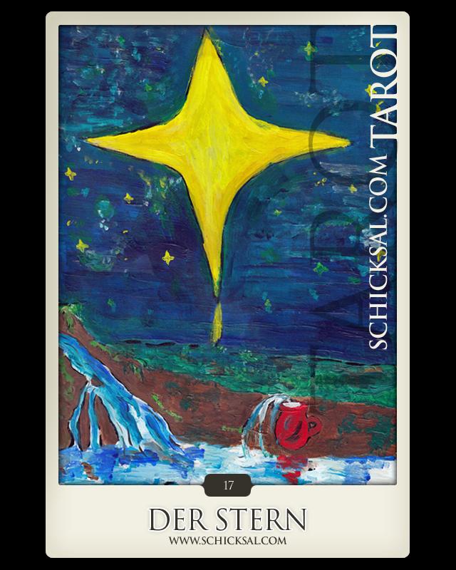 """Tarotkarte """"Der Stern"""" im Schicksals-Tarot © Verlag Franz"""