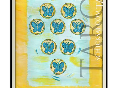 Acht Münzen | © Schicksals Tarot Verlag Franz