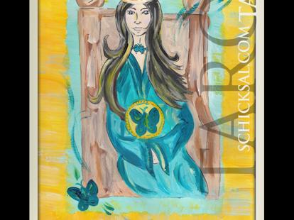 Königin der Münzen | schicksals Tarot © Verlag Franz