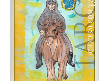 Ritter der Münzen | Schicksals Tarot © Verlag Franz