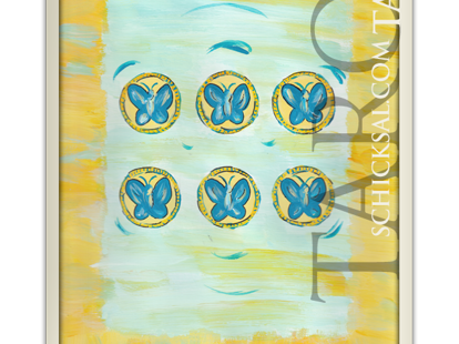 Sechs Münzen | Schicksals Tarot © Verlag Franz
