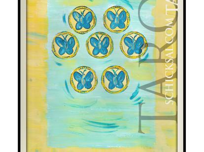 Sieben Münzen | Schicksals Tarot © Verlag Franz