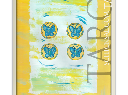 Vier Münzen | Schicksals Tarot © Verlag Franz