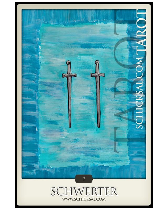 Zwei Schwerter | Schicksals Tarot © Verlag Franz