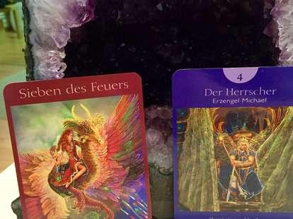 Botschaften aus dem Engel-Tarot von Doreen Virtue (c) CorneliaAngelArt