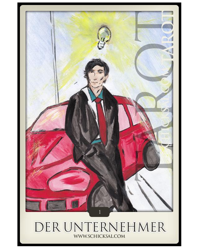 """Tarotkarte """"Der Unternehmer""""   Schicksals-Tarot © Verlag Franz"""