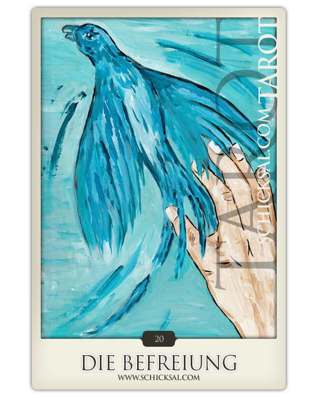 Tarot card Relief at fate tarot © Verlag Franz
