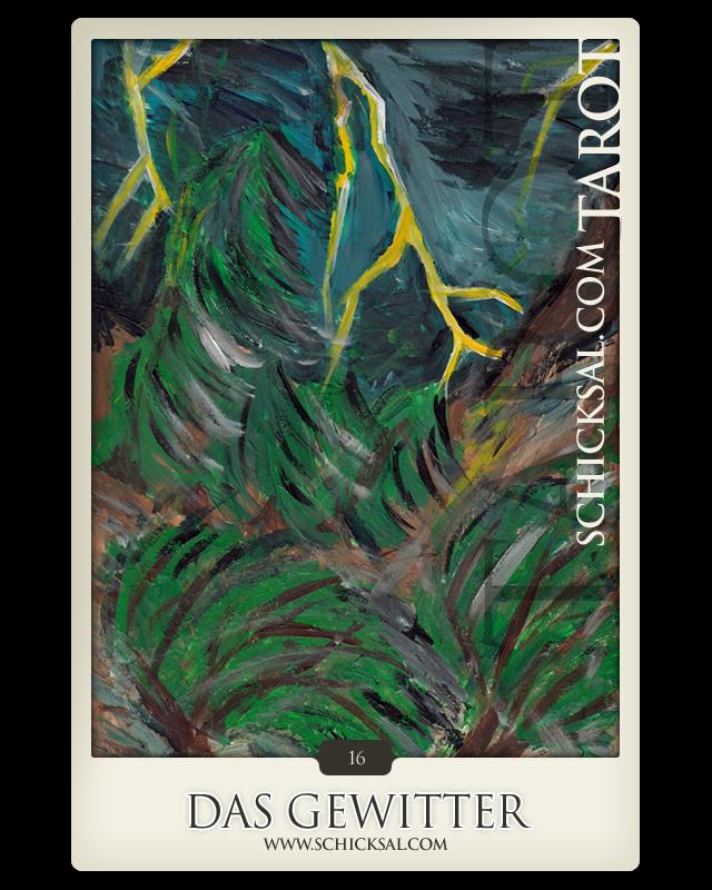 Tarot card  Thunderbolt at fate tarot © Verlag Franz