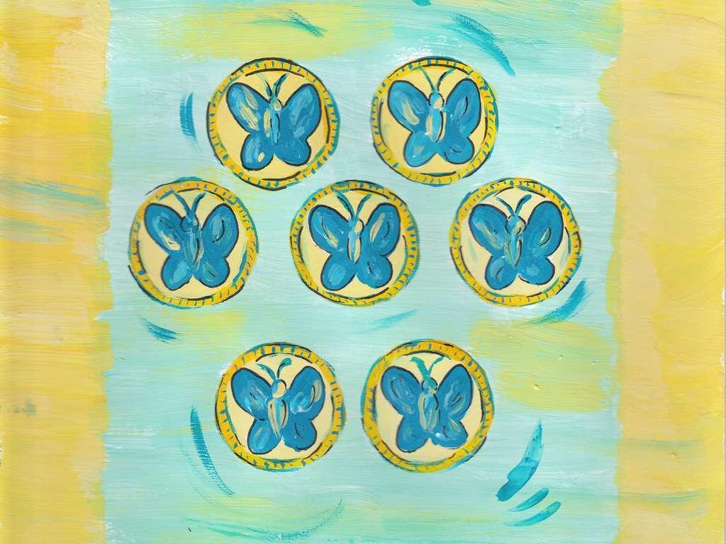 Münzen im Schicksals Tarot © Verlag Franz