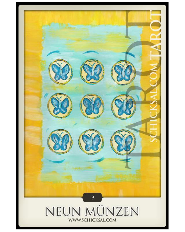 Neun Münzen | Schicksals Tarot ©Verlag Franz
