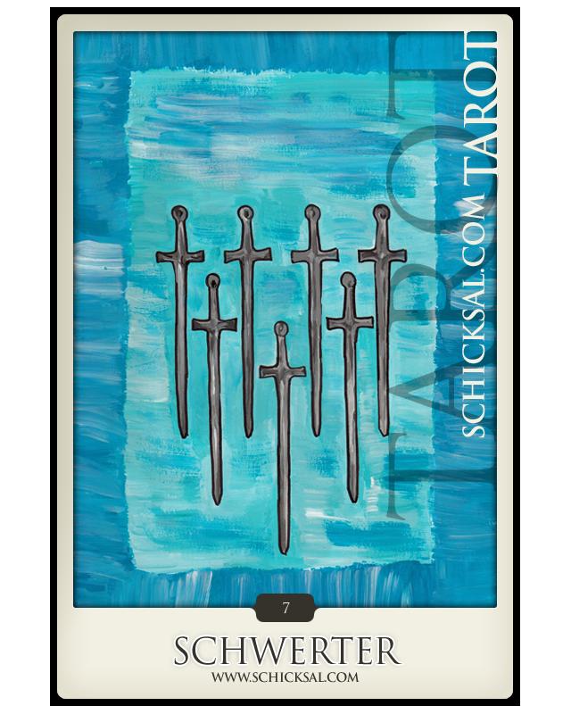 Sieben Schwerter | Schicksals Tarot © Verlag Franz