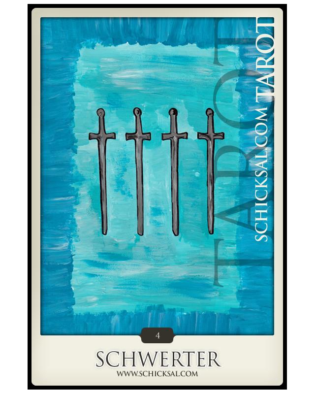 Vier Schwerter | Schicksals Tarot © Verlag Franz